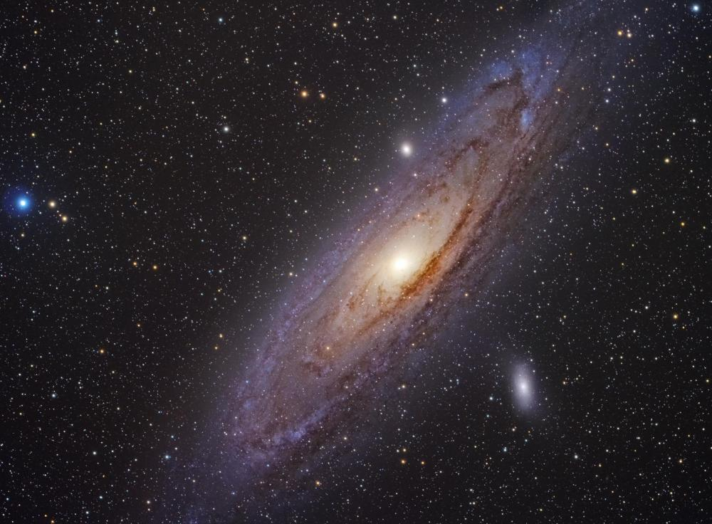 The Andromeda Galaxy is the closest to the Milky Way Galaxy, at 2.2 million light-years away.