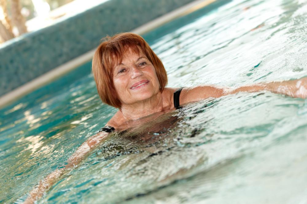 Swimming can be beneficial to people of all ages.
