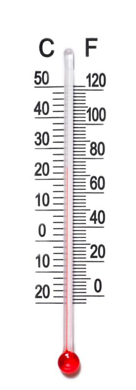 Most temperature is measured in Celsius and Fahrenheit.
