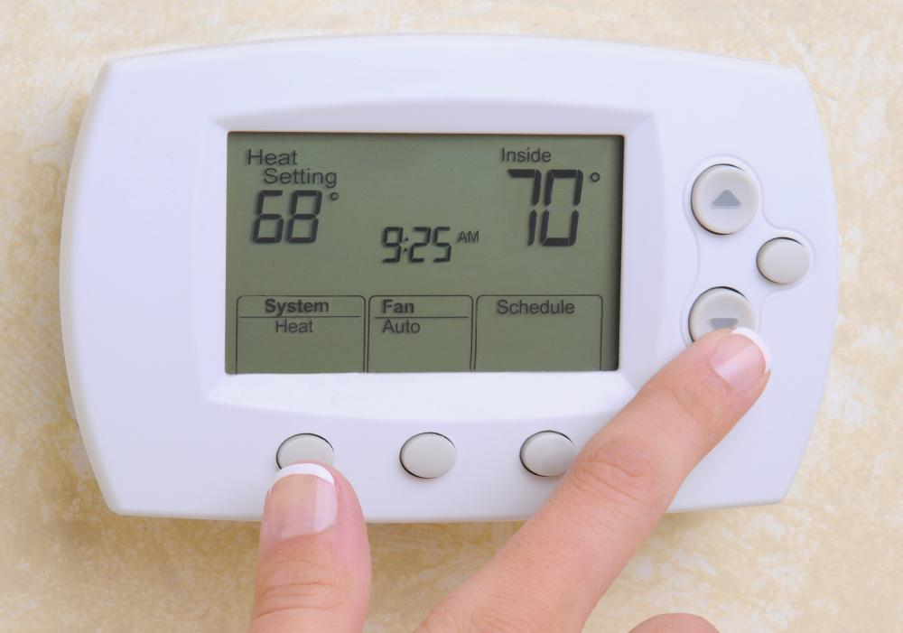 A programmable thermostat may help reduce energy consumption.