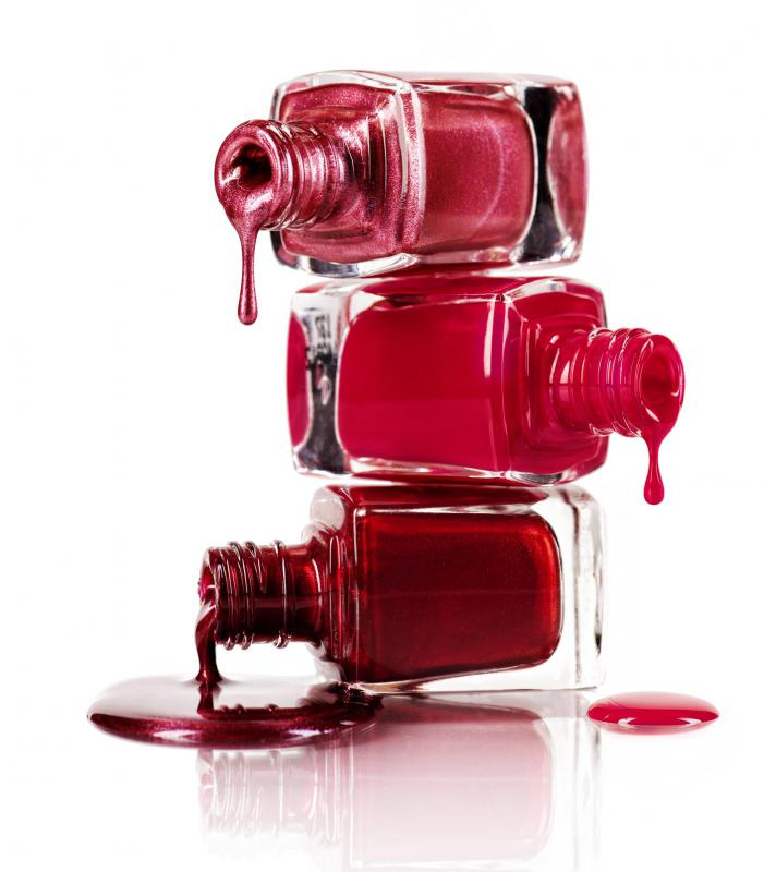 Nail polish can take an hour or more to air dry.