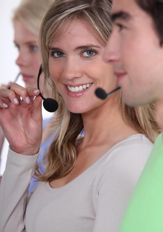 A telemarketer may place outbound calls from a call center.