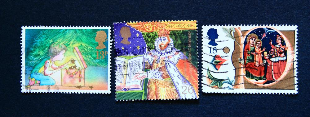 The U.S. Postal Service offers a new set of Christmas stamps every year, although some may be non-denominated and can be used at a later date.