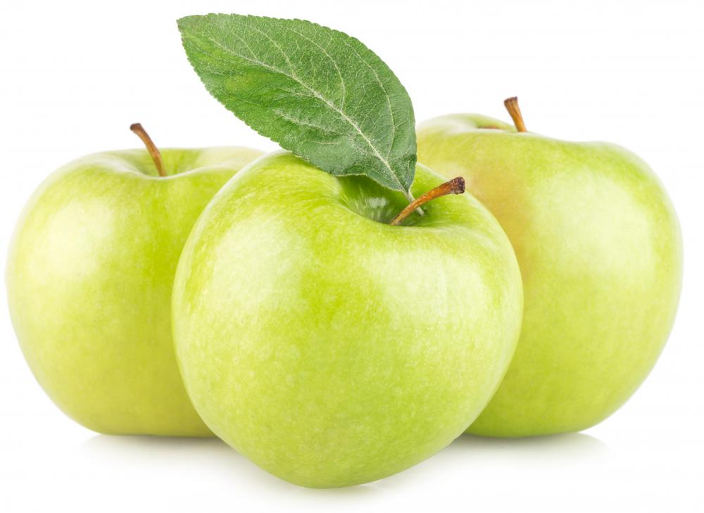 Granny Smith were the first green apples introduced on the American market.