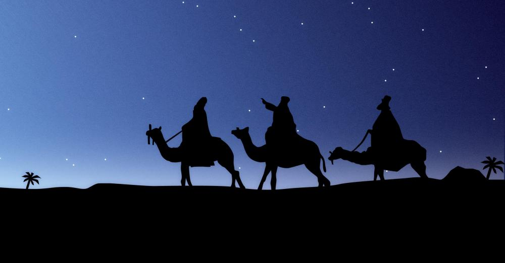 Epiphany celebrates the three wise men who visited baby Jesus.
