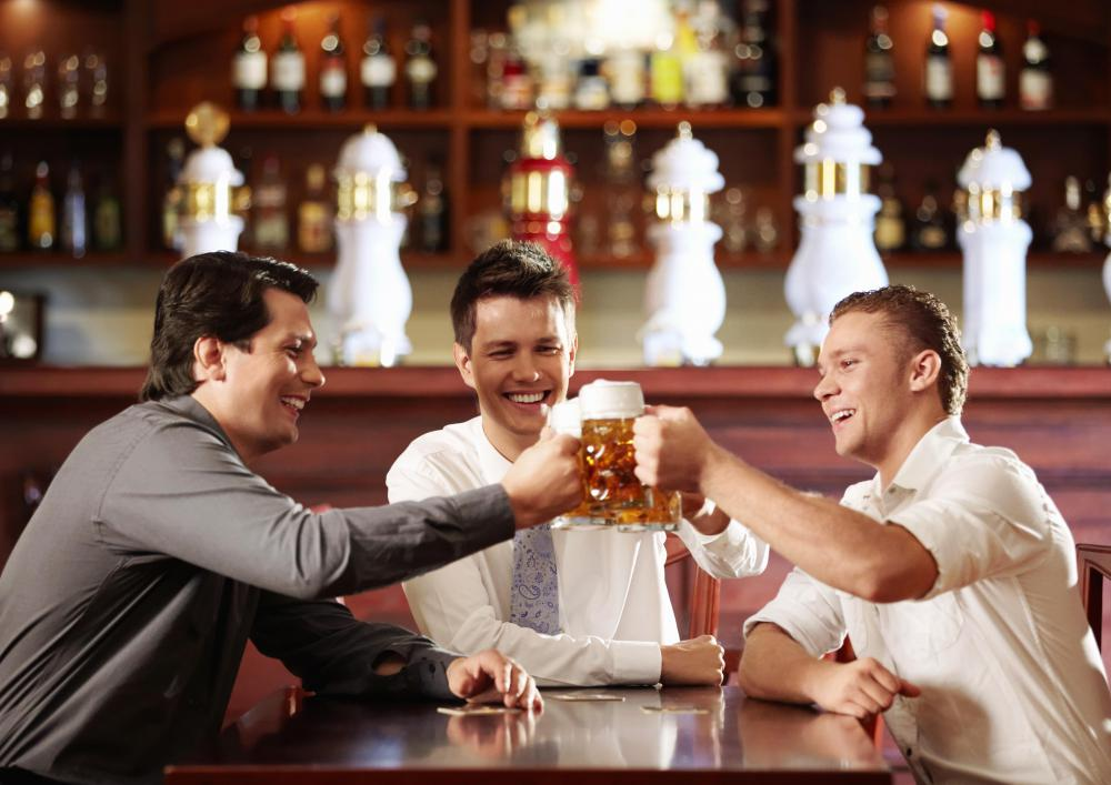 Having a few drinks at a pub may help someone blow off steam.