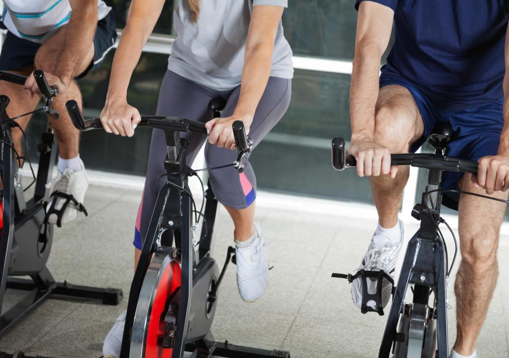 Upright indoor bikes mimic standard road bicycles.