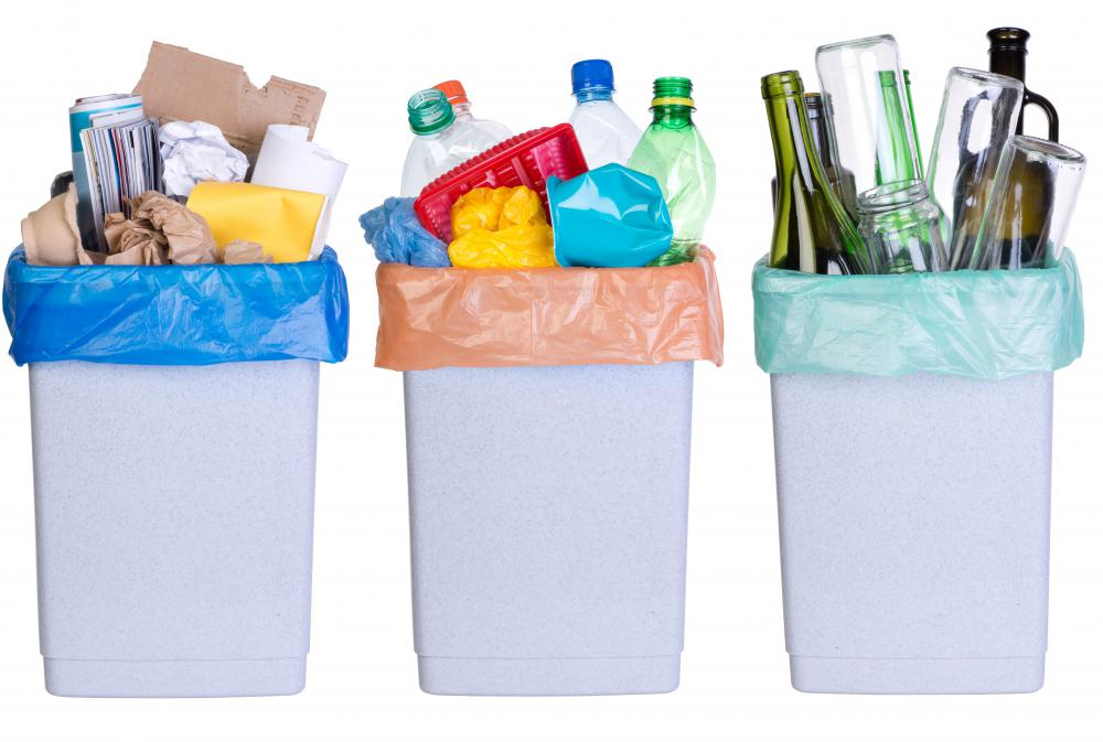 Plastics, glass bottles, paper and cans can all be recycled into new items, saving energy and materials and reducing the amount of trash in landfills.