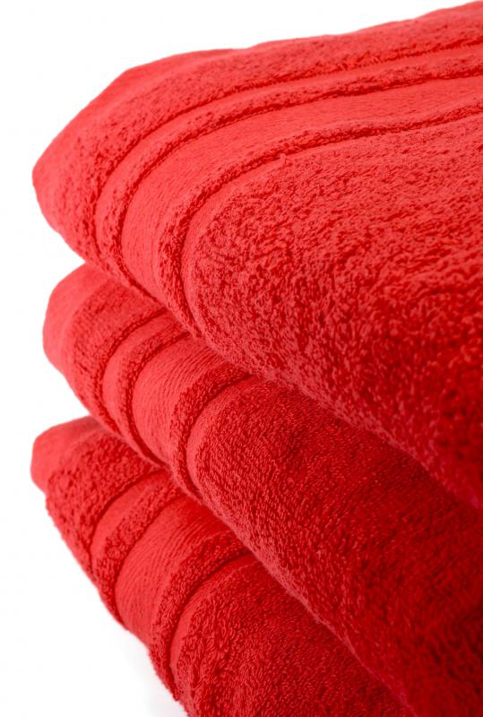 New towels may give a fresh look to a bathroom.