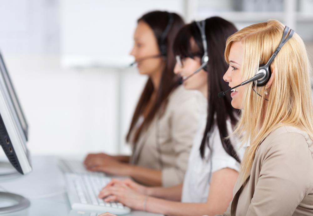 Switchboard operators may deal with the internal and external phone calls.