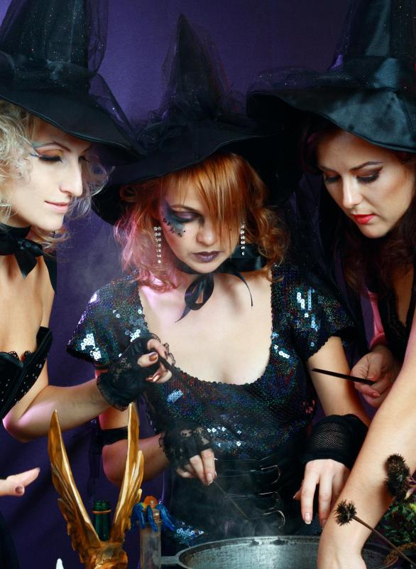 A witch costume is a Halloween classic that can work for pregnant women.