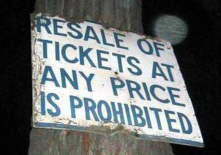 The ticket trade is regulated in some regions.