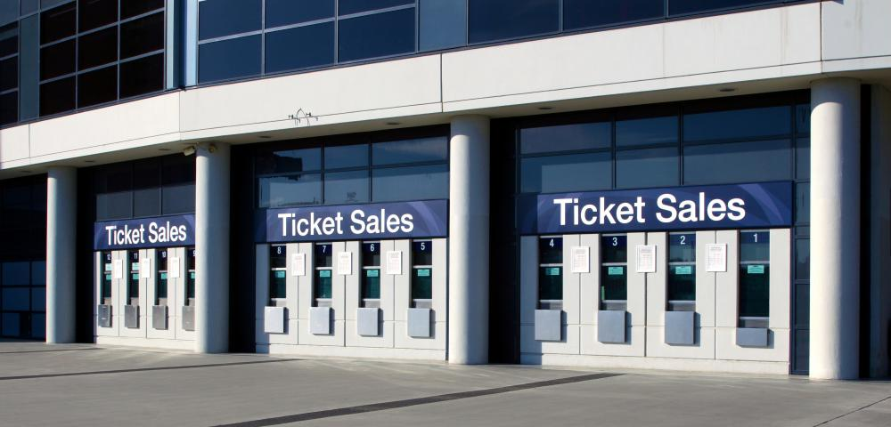Ticket agents can sometimes work at sports arenas or concert halls.