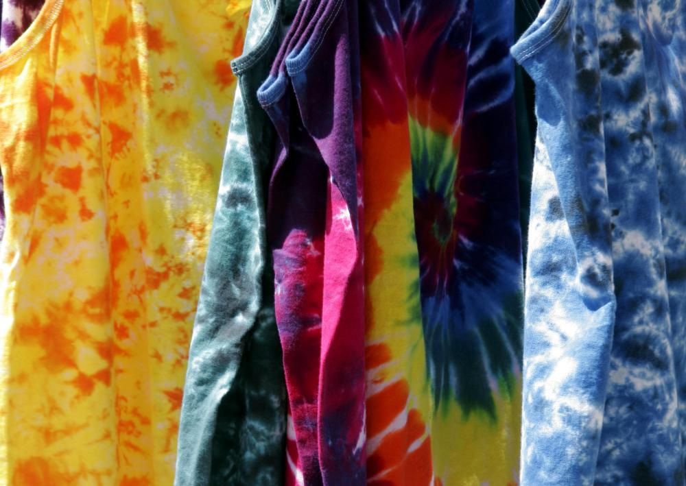 Those who attend reoccurring tailgate parties might sell wares like tie-dyed shirts.