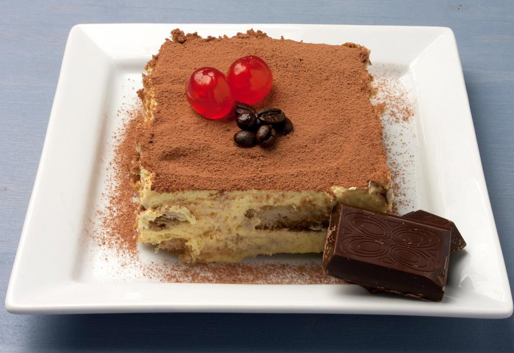 Tiramisu is served as dessert during the Feast of the Seven Fishes.
