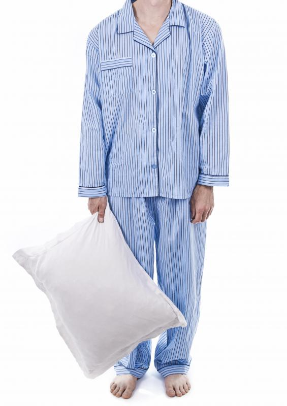Ribbed cotton may be used for pajamas.