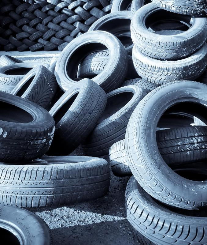 When you buy a new set of tires, the old ones can usually be recycled.