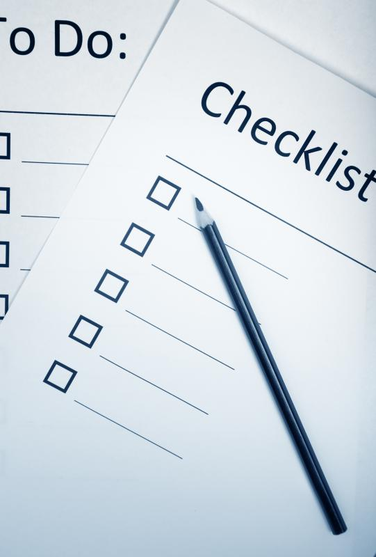 Preparing a checklist may help ease the process of funeral planning.