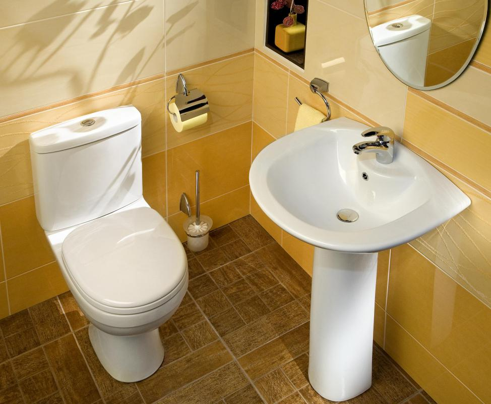 What are the different types of bathroom flooring for Photographs of bathrooms