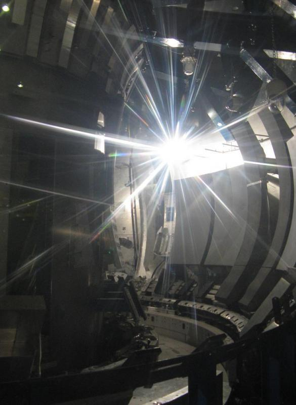 Tokamak reactors are used to research nuclear fusion at temperatures millions of degrees Kelvin.