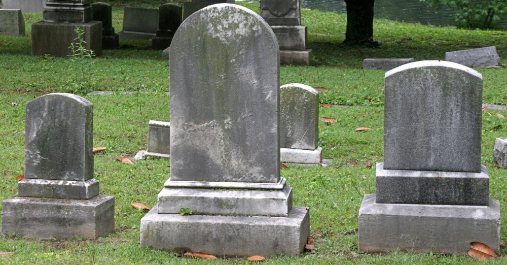 A headstone can be the most expensive part of putting together a funeral.