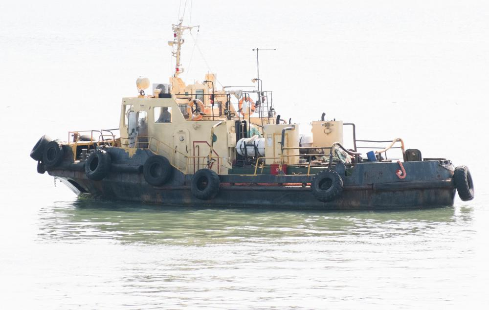 Tugboats are often used to assist ships as they come into port.