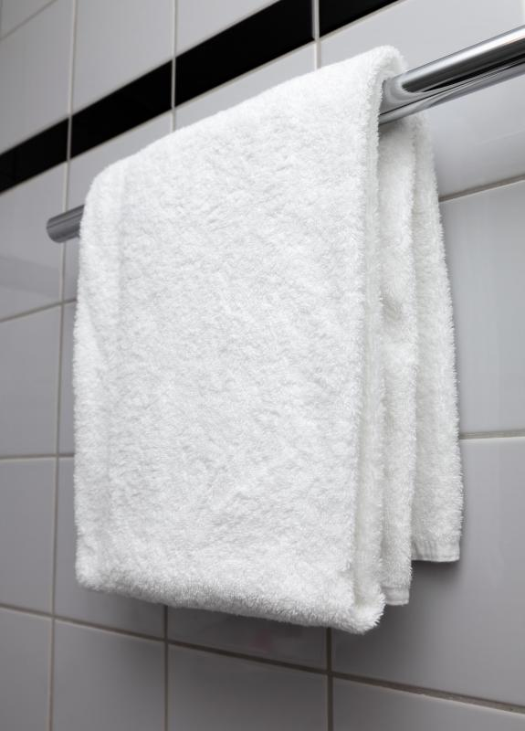 Towel racks are changeable bathroom accessories.