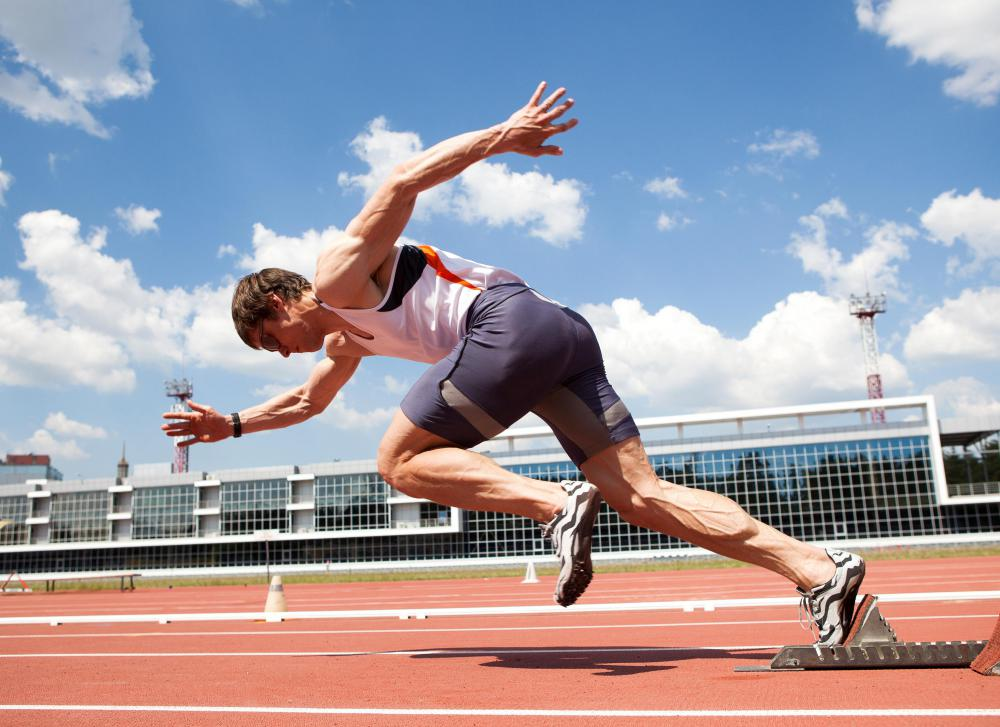 Sprinters who run short distances focus on building large muscles that give them great propulsion.