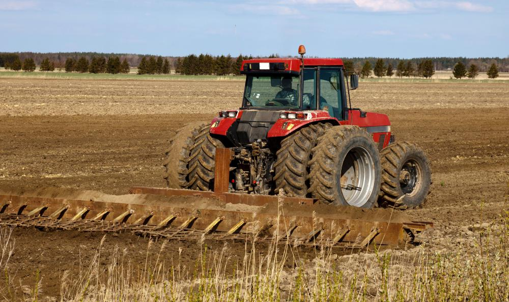 Farming equipment is often sold at auction.