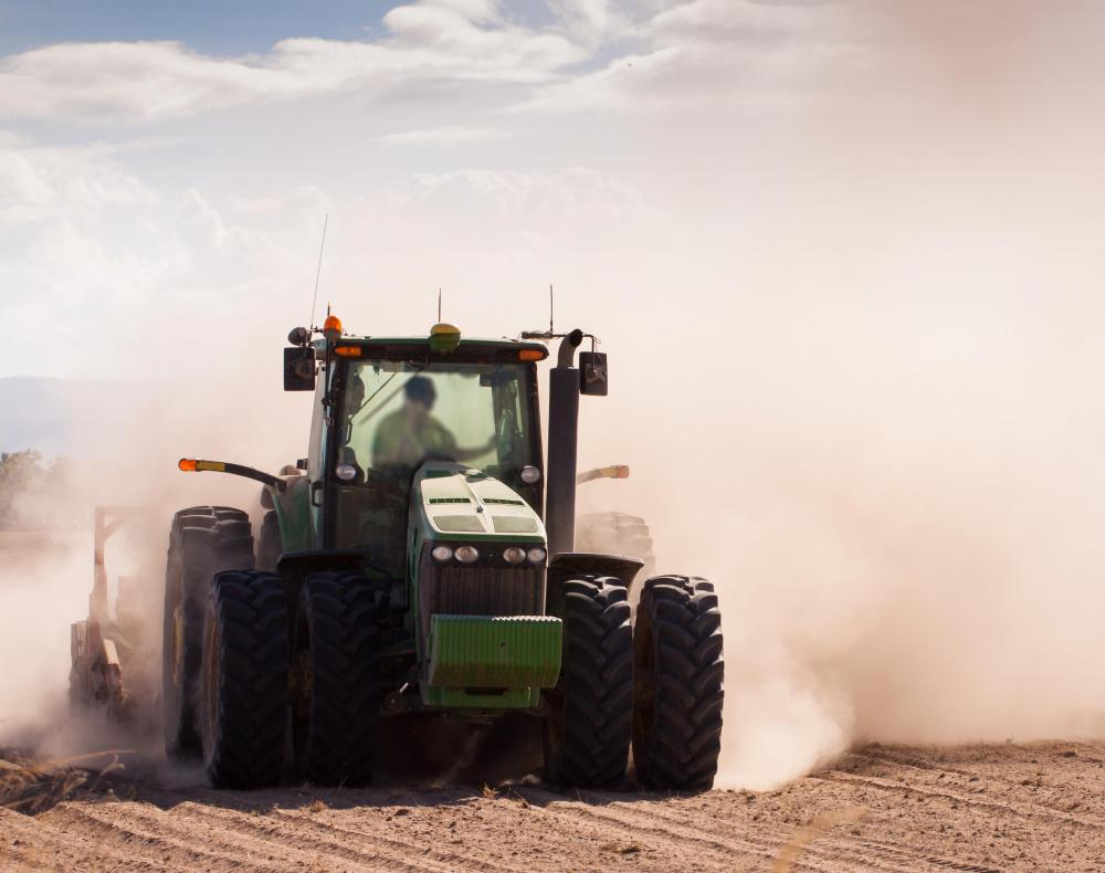 Machinery used by farmers are part of agribusiness.