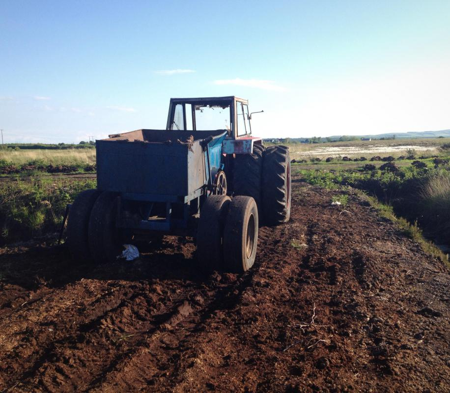 In the case of a farm tractor, the steering may be requiring assistance due to the tires being submerged in deep mud, sand or soil.