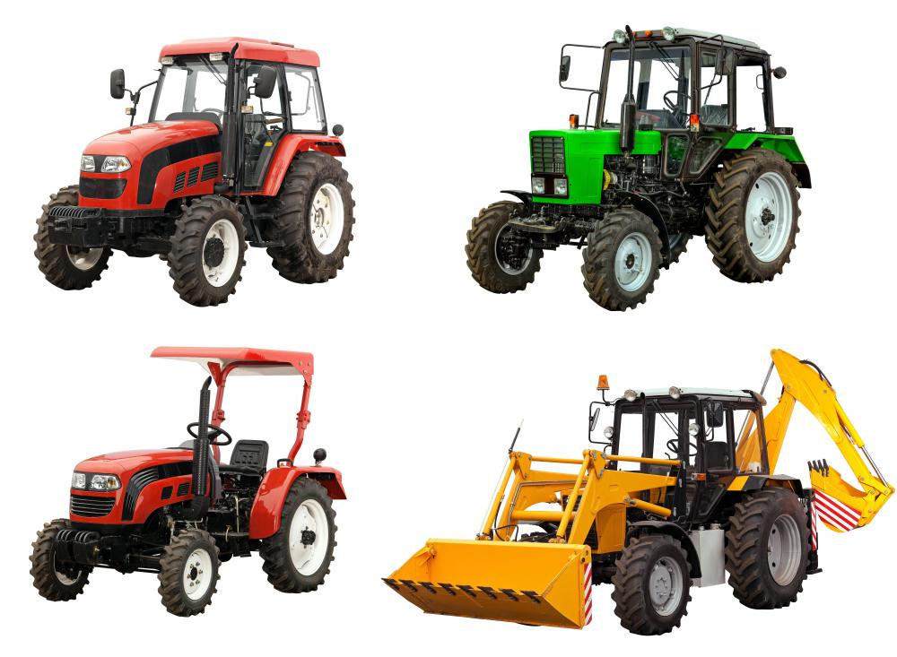 Farmers with large land plots use tractors and cultivators in lieu of the traditional weed hoe.