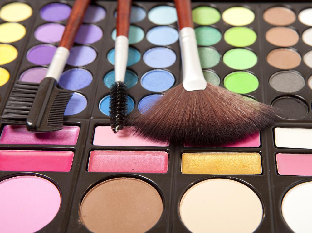 Cosmetics managers often staff the counters of luxury cosmetics brands at high-end department stores.