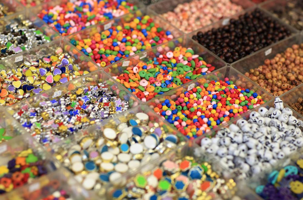 Kids enjoy making jewelry crafted from beads.