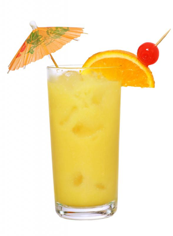 Inexpensive vodka can be used with fruit juice, such as in a screwdriver.