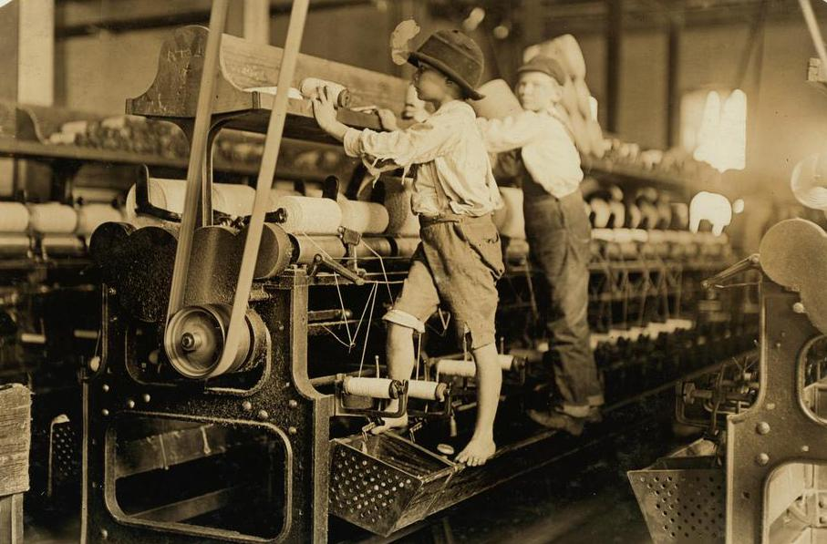 The historic use of child labor is now considered illegal.