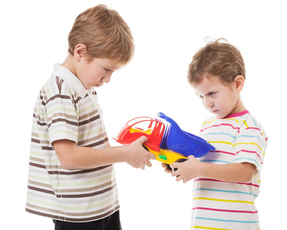 "Young children have trouble acknowledging the many ""gray"" areas in life in regards to what could be right or wrong, as can be demonstrated in getting upset over the sharing of a toy."