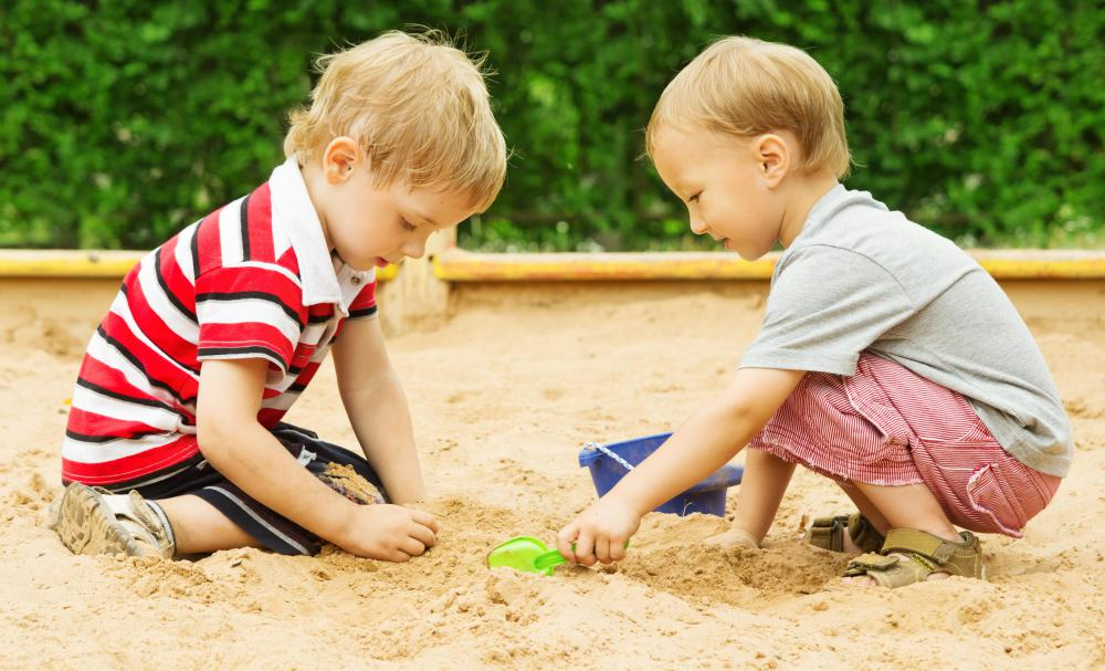 Play sand silica is used in children's sandboxes.
