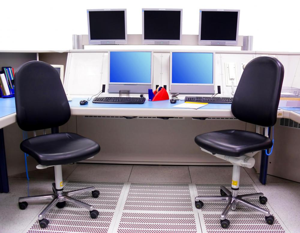 Secondhand computer equipment can be refurbished for use in a new office setting.