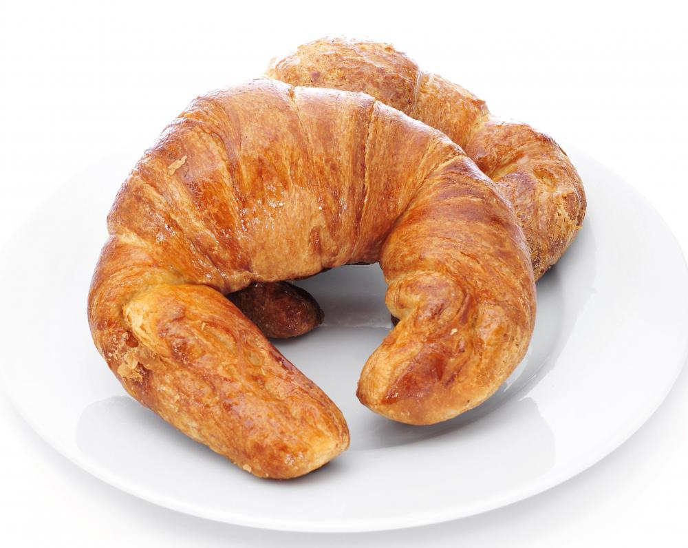 Coconut cooking oil can be used as a butter substitute in a recipe to make croissants.