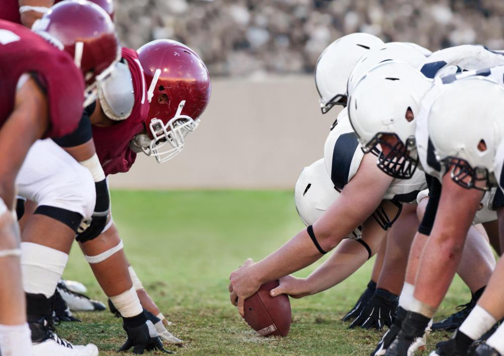 The xiphoid process can be damaged by contact with a helmet in football.