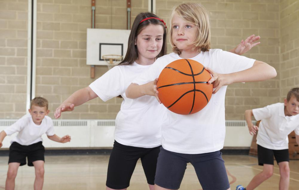 Children often need sneakers for gym class.