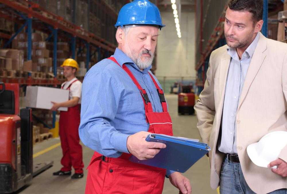 A consultant might interact with staff to check on how a business can maximize supply chain efficiency.
