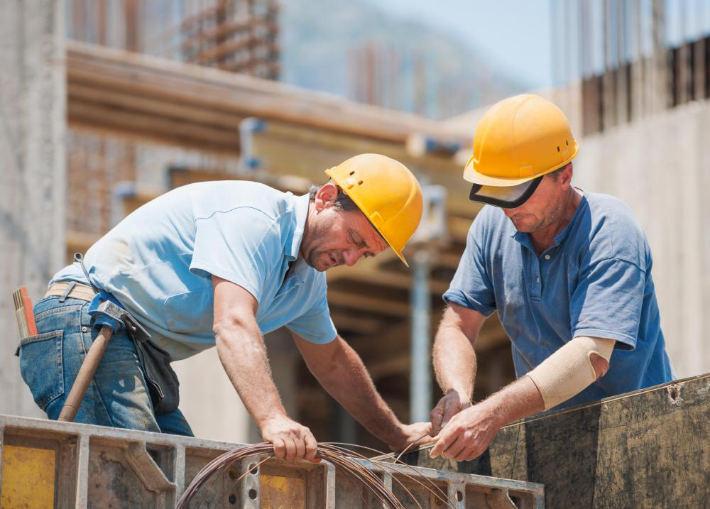 General contractors typically perform the physical labor at the work site.