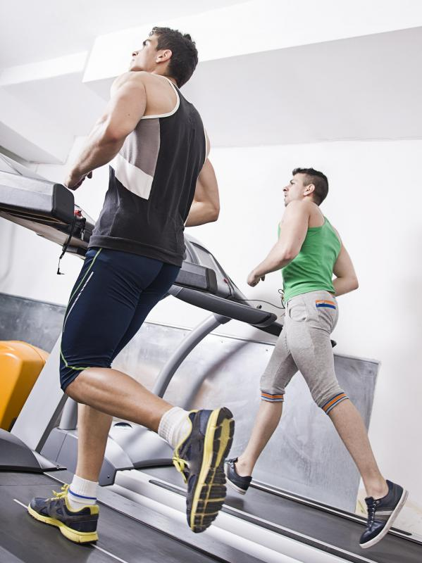 Running on a treadmill is a good way to achieve a cardiovascular workout.