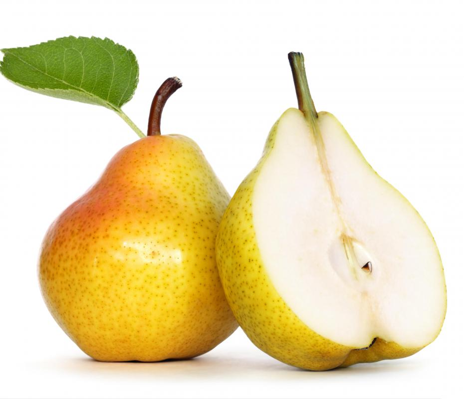 Farm guides might point to where to find fruit like pears when they are in season.
