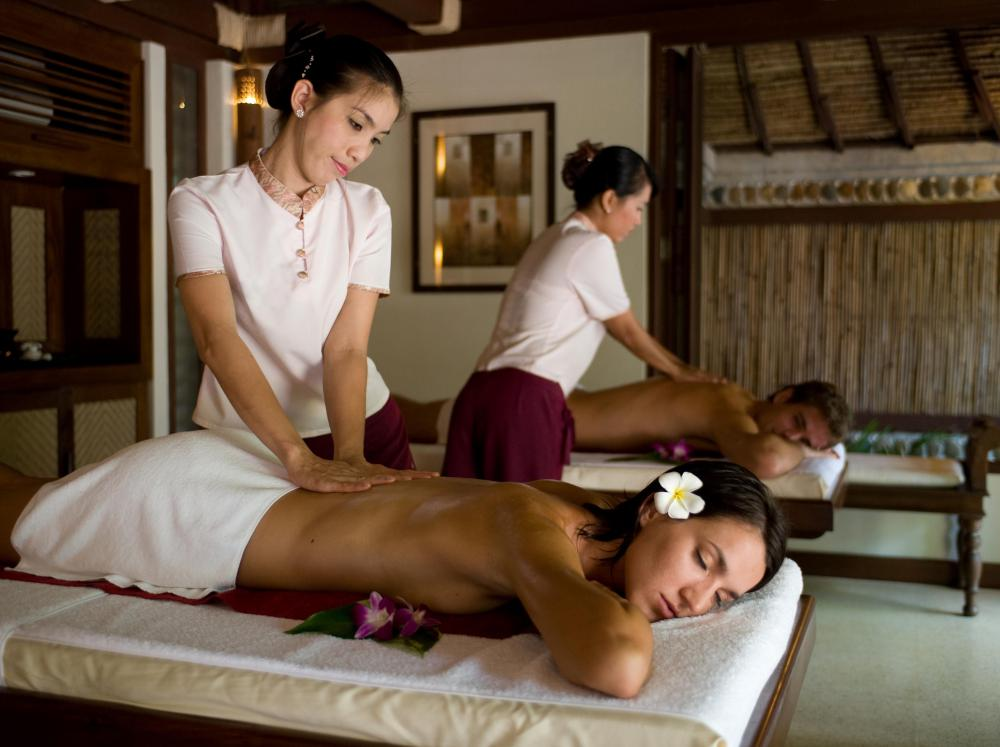 Ayurvedic massage usually involves warm oil.