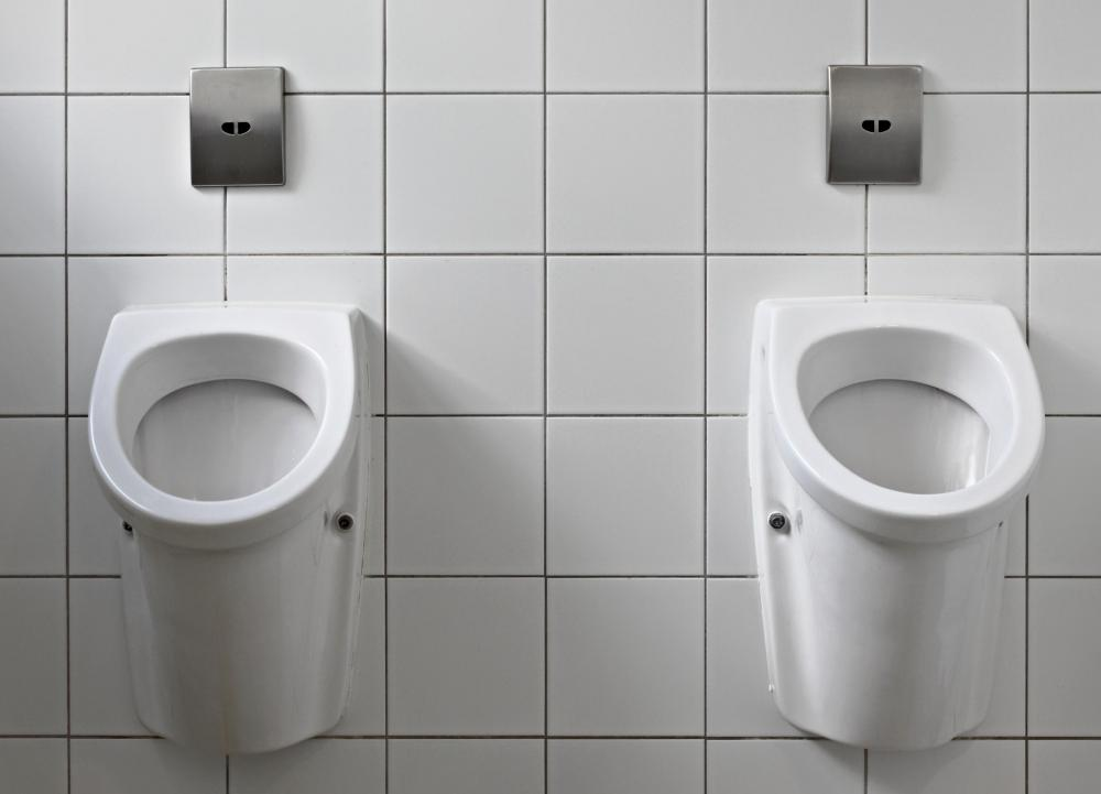 Some urinals feature a movement activated sensor for flushing.