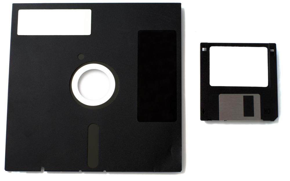 Flash drives have larger storage capacities than floppy disks.