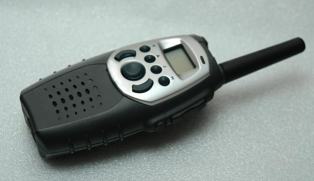 A trucking dispatcher may use a walkie-talkie.